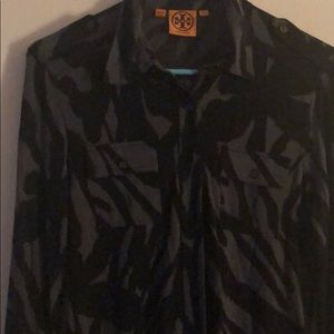 Tory Burch size small black and gray shirt